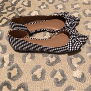 Target A New Day block and white gingham flats